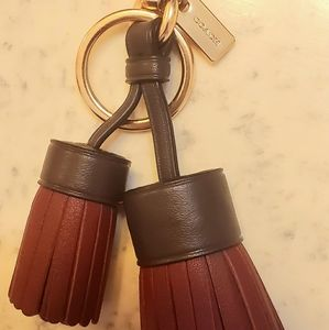 Coach Keychain/Bag Chain Tassels